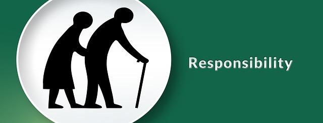responsibility, siluety starých lidí