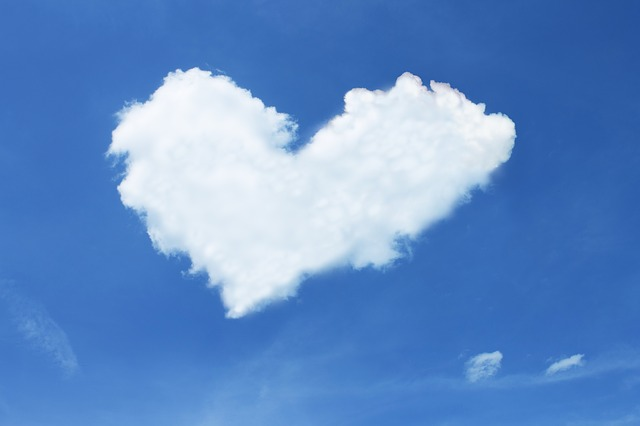 srdce v oblacích