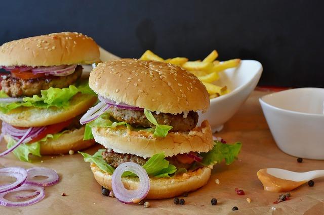nezdravý burger