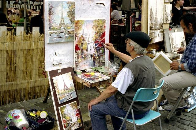 malíři na chodníku